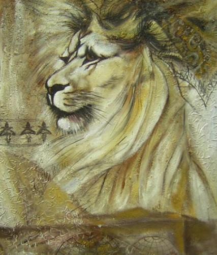 obraz Lev ve víru