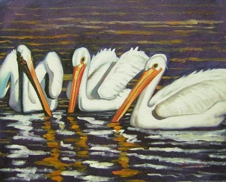obraz Tři pelikáni