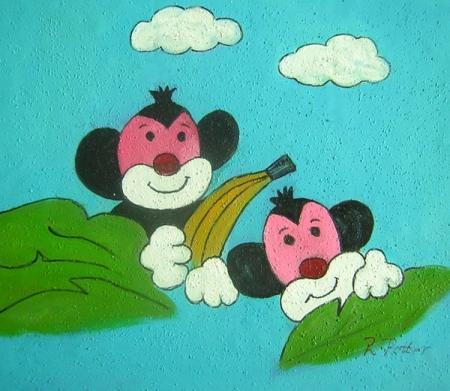 obraz Dvě opičky