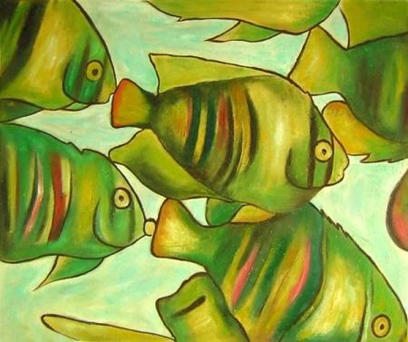 obraz Rybník