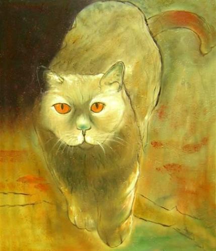 obraz Plížící se kočka