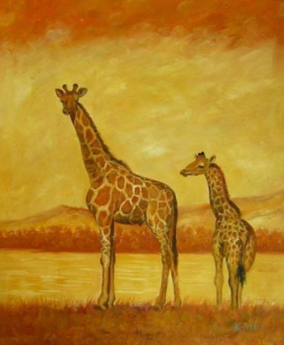obraz Dvě žirafy