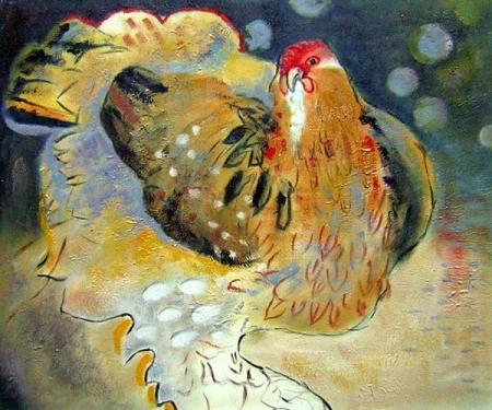 obraz Slepice sedící na vejcích