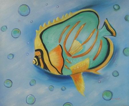 obraz Rybka v moři