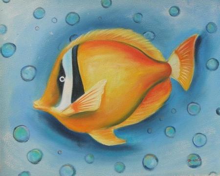 obraz Oranžová ryba