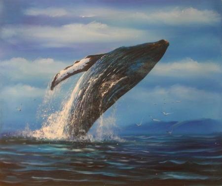 obraz Skákající velryba