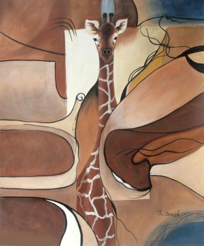 obraz Maskovaná žirafa