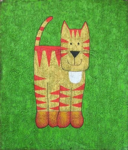 obraz Barevná kočička