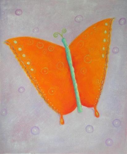 obraz Oranžový motýl