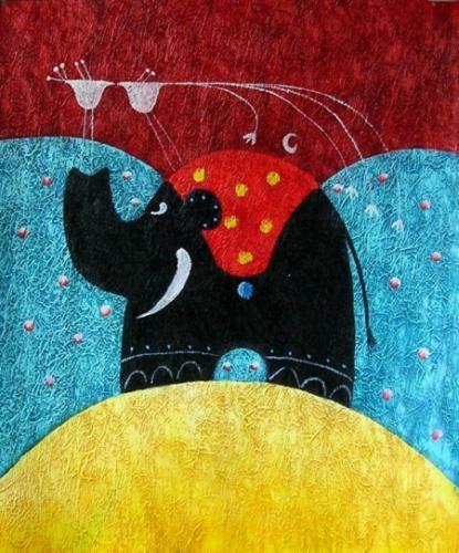 obraz Cirkusový slon