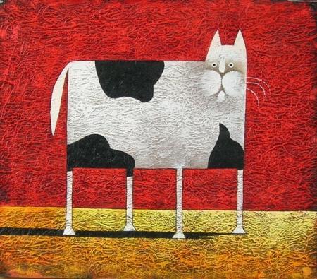 obraz Abstraktní kočka