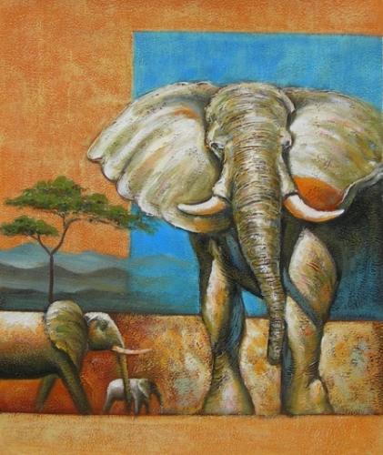 obraz Sloni v Africe