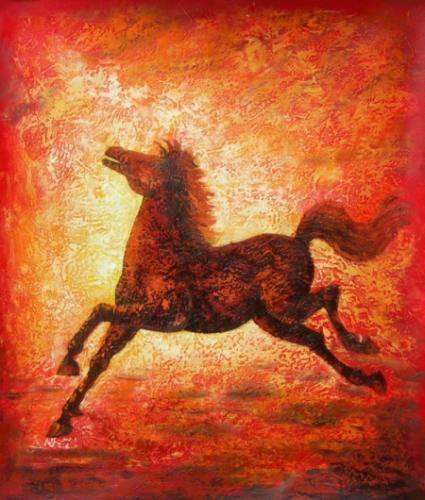 obraz Skákající kůň