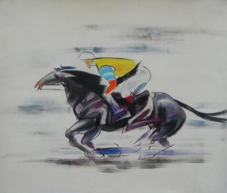 obraz Závodní kůň