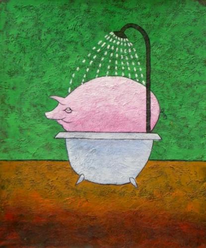 obraz Sprchující se čuník
