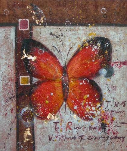 obraz Motýl na zdi