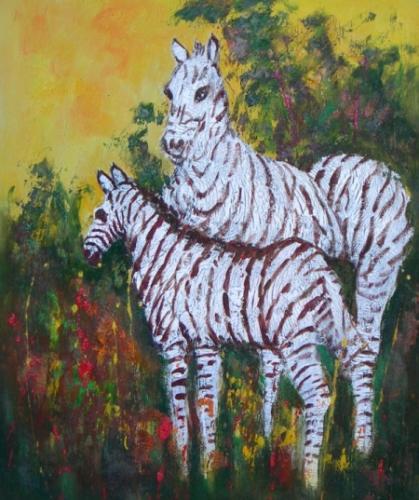 obraz Zebry v pralese