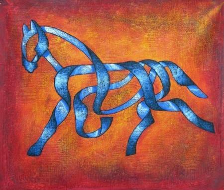 obraz Kůň ze stuhy