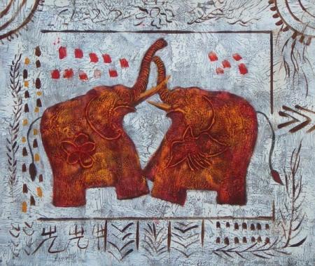 obraz Sloni v boji