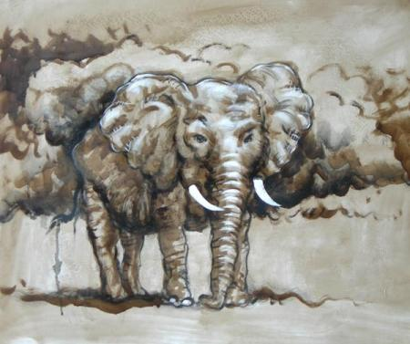 obraz Slon africký
