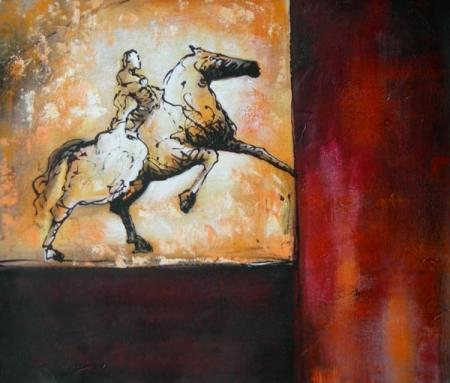 obraz Kůň na scéně