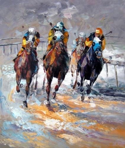 obraz Závod koní