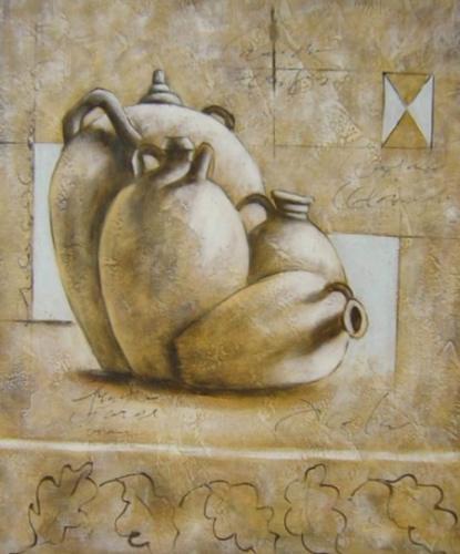 obraz Čtyři keramické vázy
