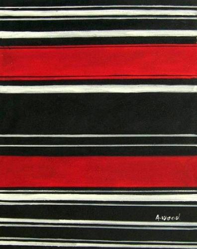 obrazy ručně malované - obraz Abstraktní obrazy - Červená a černá, obrazy do bytu