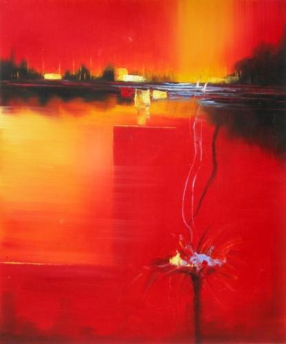 obrazy ručně malované - obraz Abstraktní obrazy - Západ slunce II., obrazy do bytu
