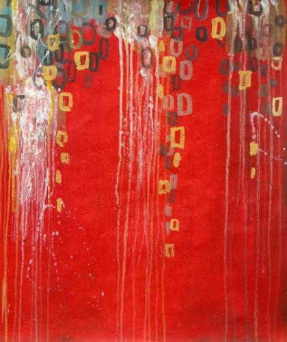 obrazy ručně malované - obraz Abstraktní obrazy - Zlomky vzpomínek, obrazy do bytu