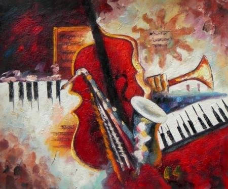 obraz Změt hudebních nástrojů