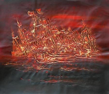 obrazy ručně malované - obraz Abstraktní obrazy - Moře, obrazy do bytu