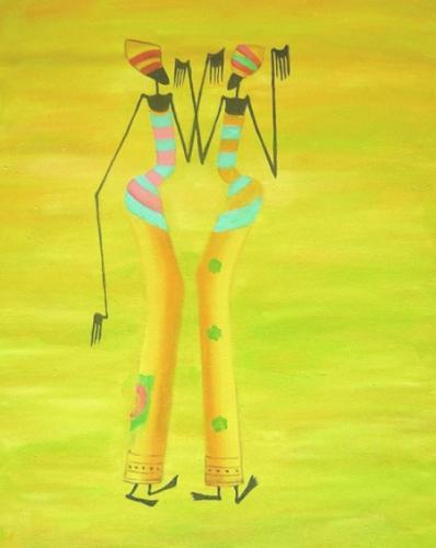 obraz Dvě tanečnice