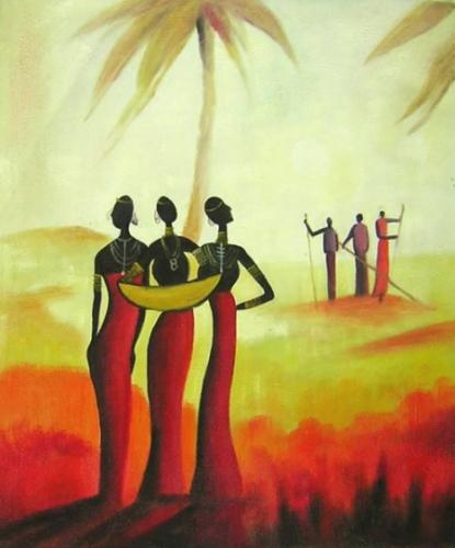 obraz Lidé v západu slunce