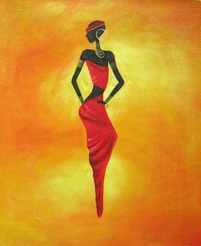 obraz Africká dívka