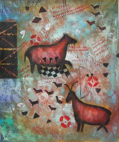obraz Zvířata na pastvě