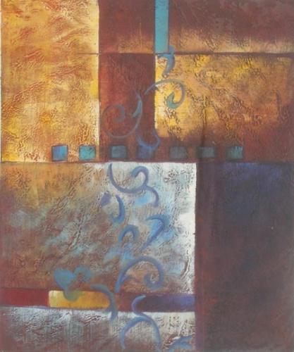 obraz Květina na zdi