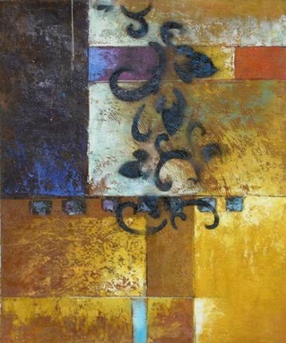 obraz Zlatá zeď