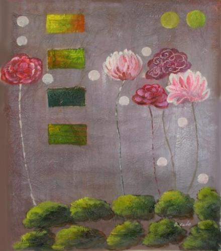 obraz Květy v bocháncích