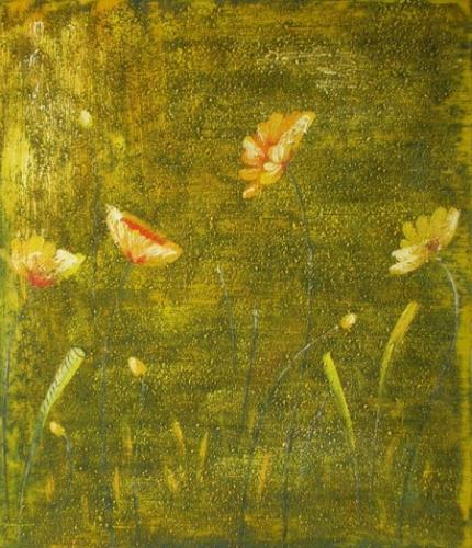 obraz Zlaté květy