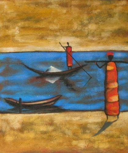 obraz Člověk na lodi