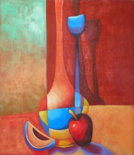 obraz Barevná váza