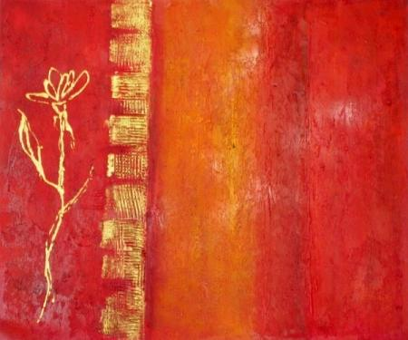 obraz Rudé zabarvení