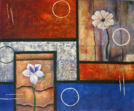 obraz Okno do květin