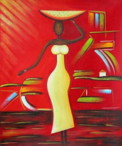 obraz Žena nesoucí mísu