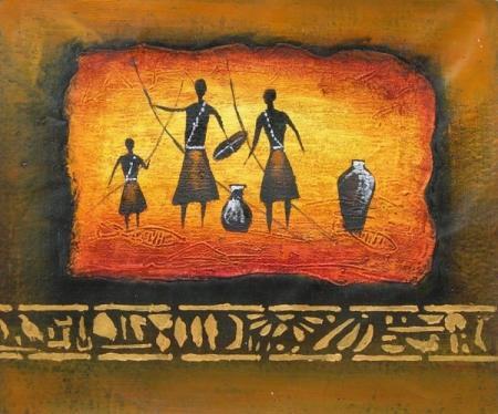 obraz Afričtí lovci domorodci