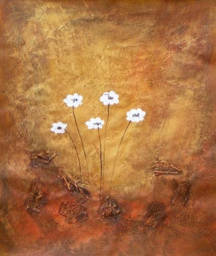 obraz Bílé kytičky