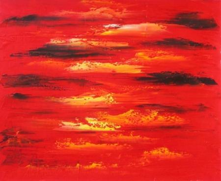 obraz Rudé mraky