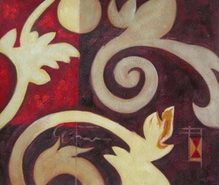 obraz Květy na stěně