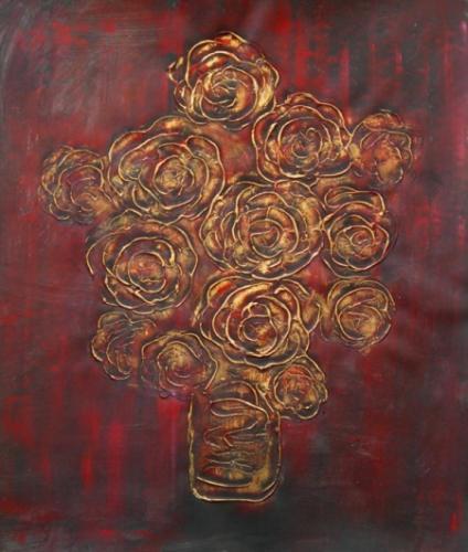 obraz Měděné květy